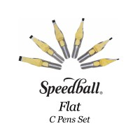 SPEEDBALL Flat Type C Pens Calligraphy Nib Set