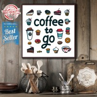 Coffe AA | hiasan | pajangan dinding | poster | kayu | wall decor
