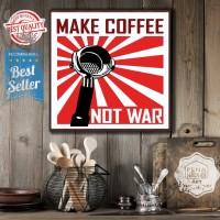Coffee vt| Hiasan | pajangan dinding | poster | kayu | wall decor