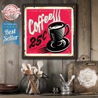 Hiasan Dinding Pajangan Dinding Poster Kayu Dekorasi Kamar caffe K25