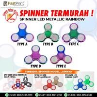 Fidget spinner Metallic/Metalik Toy hand spiner LED Lamp Lampu Disco