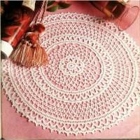 Taplak meja rajut bulat handmade doily crochet S14