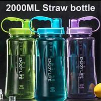 A09 Botol Minum ENJOY LIFE 2 Liter - Straw Water Bottle 2000 M