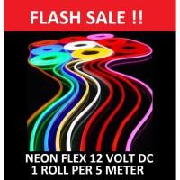 Lampu Neon Flex LED selang 12V DC neonflex 12 v volt sign 12volt 5M