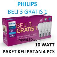 PHILIPS Lampu LED 10W Bohlam 10 w watt PUTIH Bulb philip MyCare 10watt