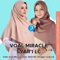 Hijab Segi Empat Lasercut Jilbab segiempat Voal Laser cut Syari - PILIH WARNA