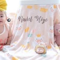 Custom Nama Selimut Bayi / Baby & Anak Minky Pattern