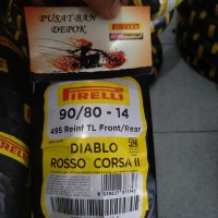 Ban Motor Pirelli Diablo rosso corsa 2 ukuran 90/80-14 soft compound