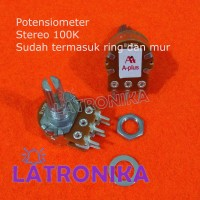 Potensiometer 100K Stereo A-Plus Potensio 100 K APlus Variable VR