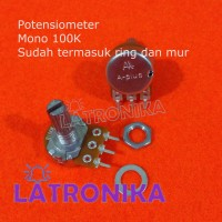 Potensiometer 100K A-Plus Mono Potensio 100 K APlus Variable Resistor