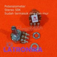Potensiometer 50K Stereo A-Plus Potensio 50 K APlus Variable VR