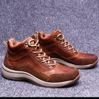 Sepatu kasual Boots Pria Kulit Asli Classic Oxford Derby Casual Hiking