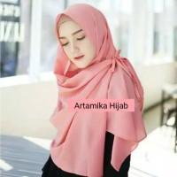 Hijab Alyssa Jilbab murah Pashmina instan buble crepe