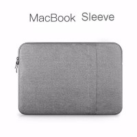 Tas Laptop Softcase Nylon Macbook 13inch Sleeve Case Abu