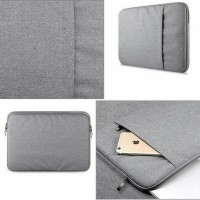 Tas Laptop Softcase Nylon MacBook 13 inch sleeve case Abu-abu