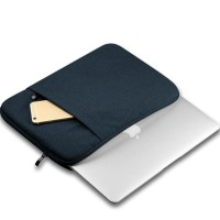 Tas Laptop Softcase Nylon for Macbook 11 12 inch Sleeve Case - Black