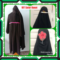 Promo Set Gamis Jilbab Cadar Rit Safar Anak Berkualitas
