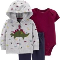Carters Original Set Jacket/Pakaian Set Anak - Dino Grey