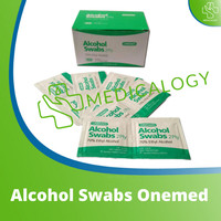 Alcohol Swab Onemed Kapas Tisu Tissue Alkohol Pads One Swabs Onemed