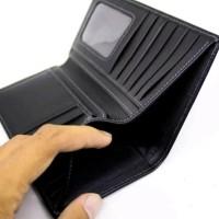 Dompet kulit asli model panjang pria wanita material kulit sapi