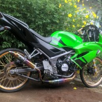 Knalpot Racing Kawasaki Ninja 150 Stainless Pelangi TNX Racing Produ