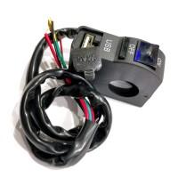 SAKLAR LAMPU 6956+USB CR7 BLUE
