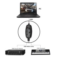 Promo USB MIDI In-out Interface Cable Converter PC to Music Keyboard