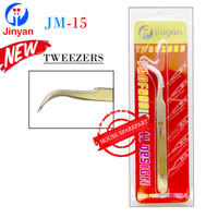 Jinyan Pinset Tweezers Bengkok Tajam Jm-15 Stainless Steel Original 16