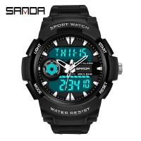 Cantik 【Ready】SANDA Jam Tangan Pria/ Men Sports Running Watches