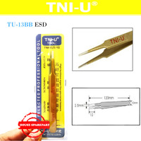 Tni-U Tu-13Bb Esd Pinset Gold Tipis Bulat Round Tips Vape Tweezer Coil