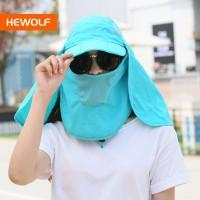 Baru Topi+Masker Sunblock Penutup Wajah Wanita untuk Outdoor