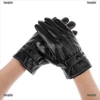 New 【 FF 】 Sarung Tangan Pria Full Finger Bahan Kulit Hangat