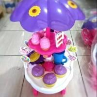 Mainan Anak gerobak Es Krim Dorong Besar
