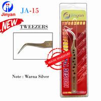 Jinyan Pinset Tweezers Bengkok Tajam Ja-15 Stainless Steel Original 19