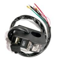 SAKLAR LAMPU 6956+USB CR7 WHITE
