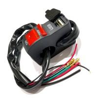 SAKLAR LAMPU 6956+USB CR7 RED