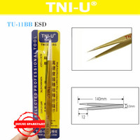 Tni-U Tu-11Bb Esd Pinset Gold Runcing Tajam Vape Tweezer Coil 15500 24
