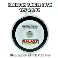 Klakson Single Engkel Disk 12v - Bisa utk Mobil dan Motor