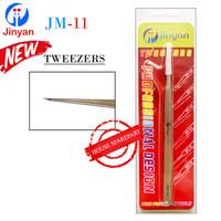 Jinyan Pinset Tweezers Lurus Tajam Jm-11 Stainless Steel Original 1600