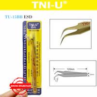 Tni-U Tu15Bb Esd Pinset Gold Curved Lengkung Bengkok Vape Tweezer Coil
