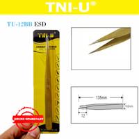 Tni-U Tu-12Bb Esd Pinset Gold Runcing Tajam Lancip Vape Tweezer Coil 1