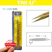 Tni-U Tu-10Bb Esd Pinset Gold Lancip Runcing Pendek Vape Tweezer Coil