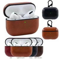 Leather Case for AIRPODS PRO Casing Hardcase with Hook