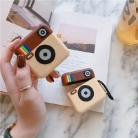 3d Icon Instagram Silicone Case Pouch for AIRPODS Casing with Hook