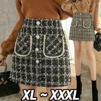 (#9805 XL/XXL/XXXL)Jovanka Skirt/Rok Mini/Rok Pendek/Rok Pesta