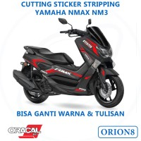 Sticker Nmax Stiker Stripping Motor Cutting Sticker NM-3 Dua Warna