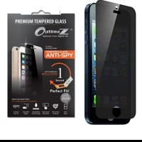 SALE! Optimuz Tempered Glass Anti Spy Iphone 5 / 5s dgn Aplikator