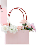 Box Kotak Hampers Gift Flower Rose / Tempat Kado Import Dus Tali