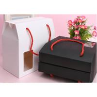 Box Kotak Gift brown Putih samson / Hampers Box Mika