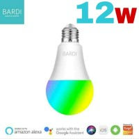 Bohlam Lampu Smart Home LED Light Bulb Wifi RGB WW 12W 12 Watt BARDI